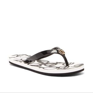 Kate Spade Glasses Pattern Flip Thong Sandal